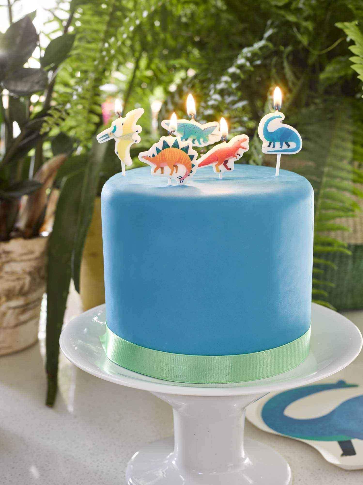 Velas Dinosaurio tarta
