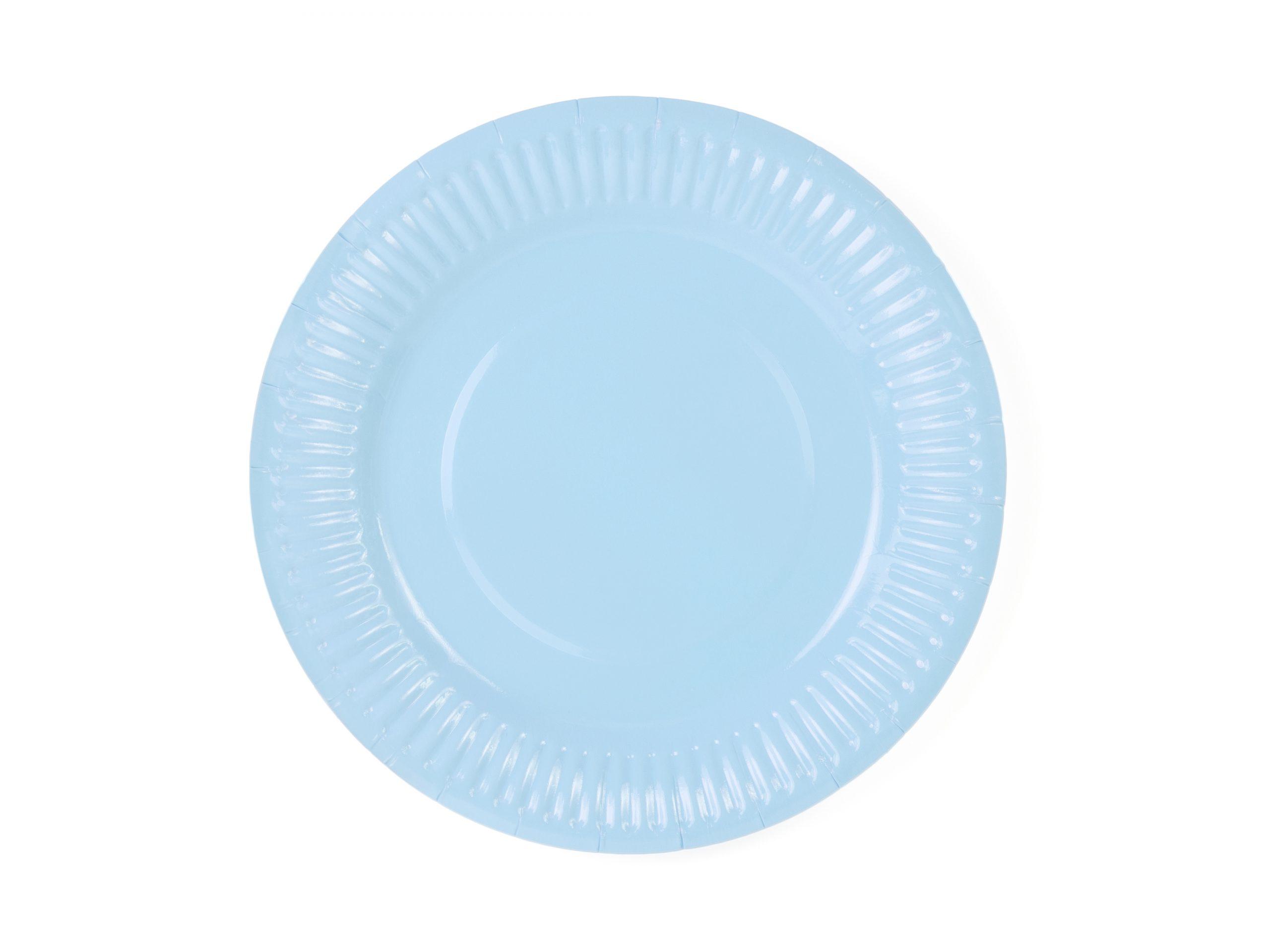 Platos azul pastel