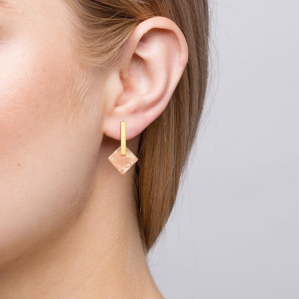 Rose earrings model copia
