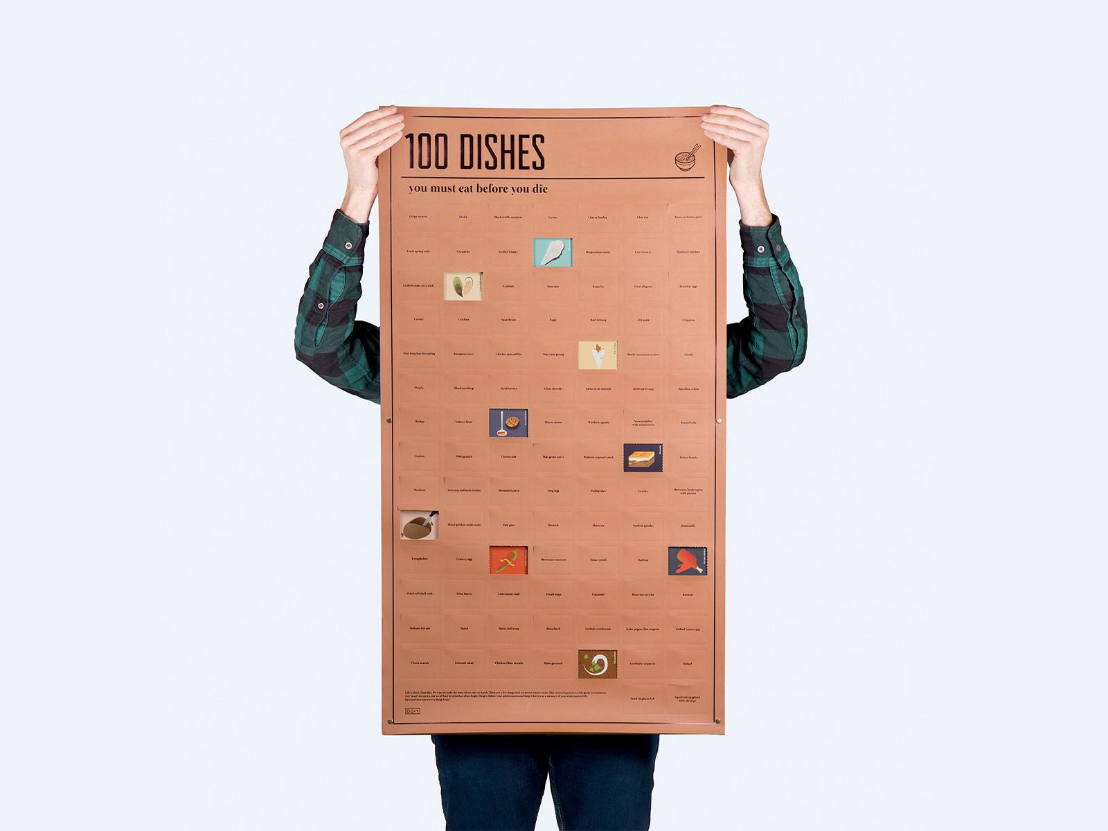 poster interactivo 100 platos de comida