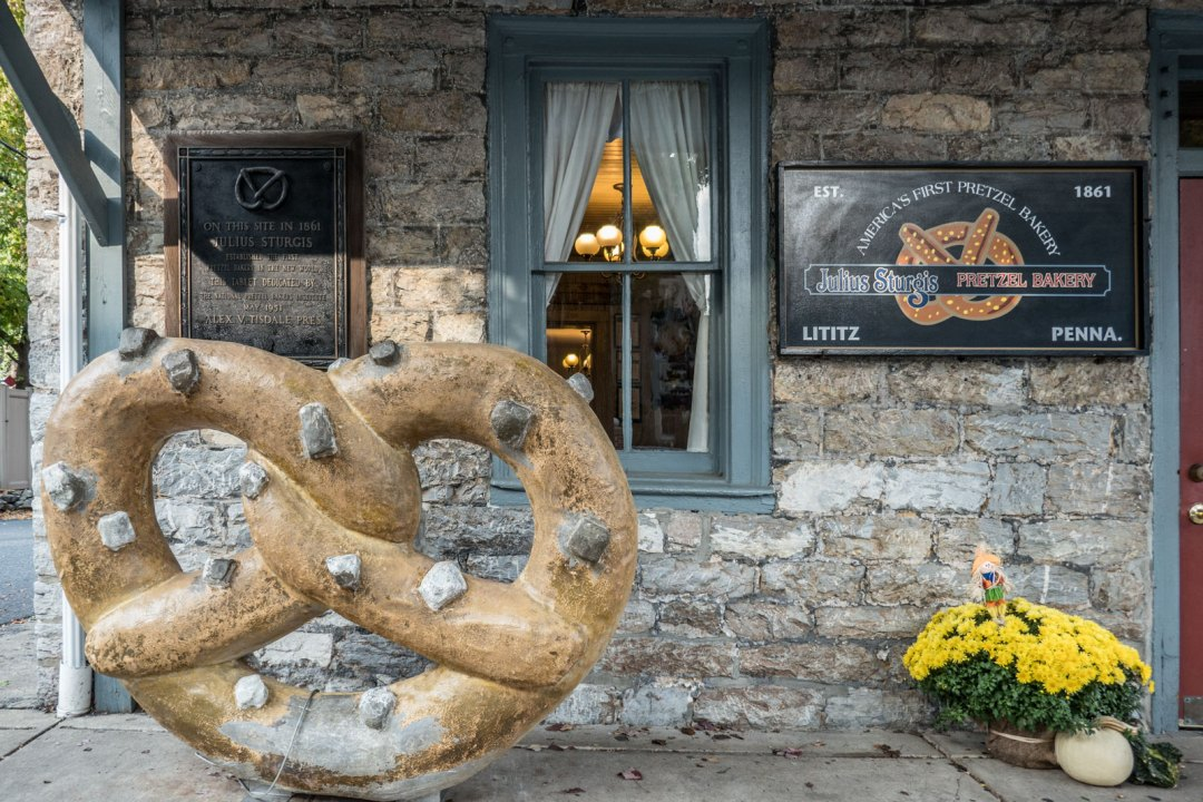 Julius Sturgis Pretzel Bakery Lititz Pennsylvania
