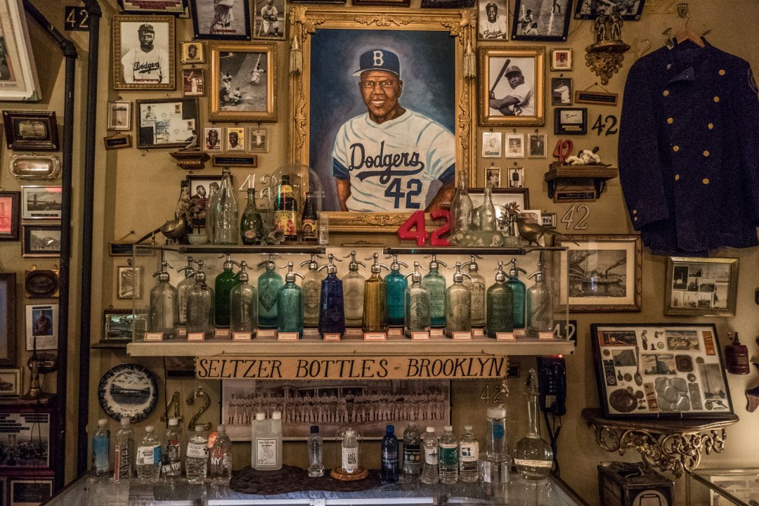Jackie Robinson at New York City Reliquary Museum Williamsburg Brooklyn