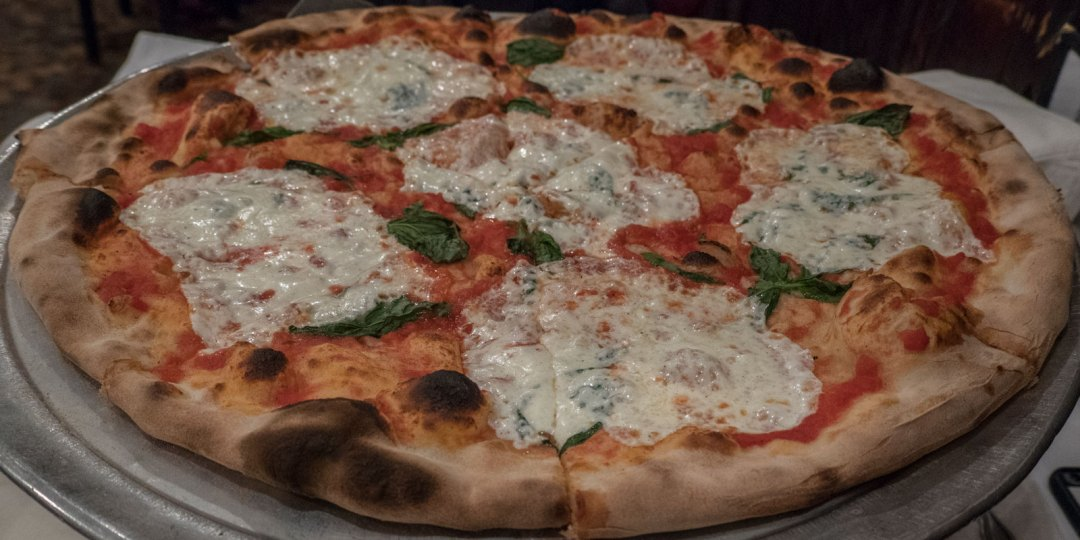 Margherita Pizza at Patsy's Pizzeria Along the 6 Train in East Harlem New York City