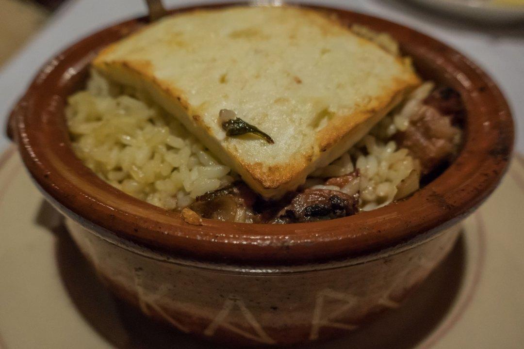 Lamb Giuvetsi at Ikaros Restaurant in Greektown Baltimore