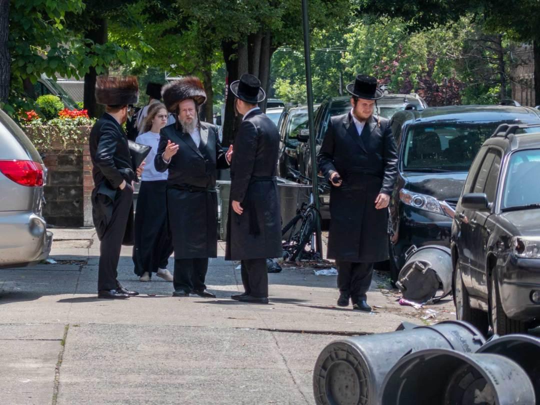 Orthodox Jews in Borough Park Brooklyn