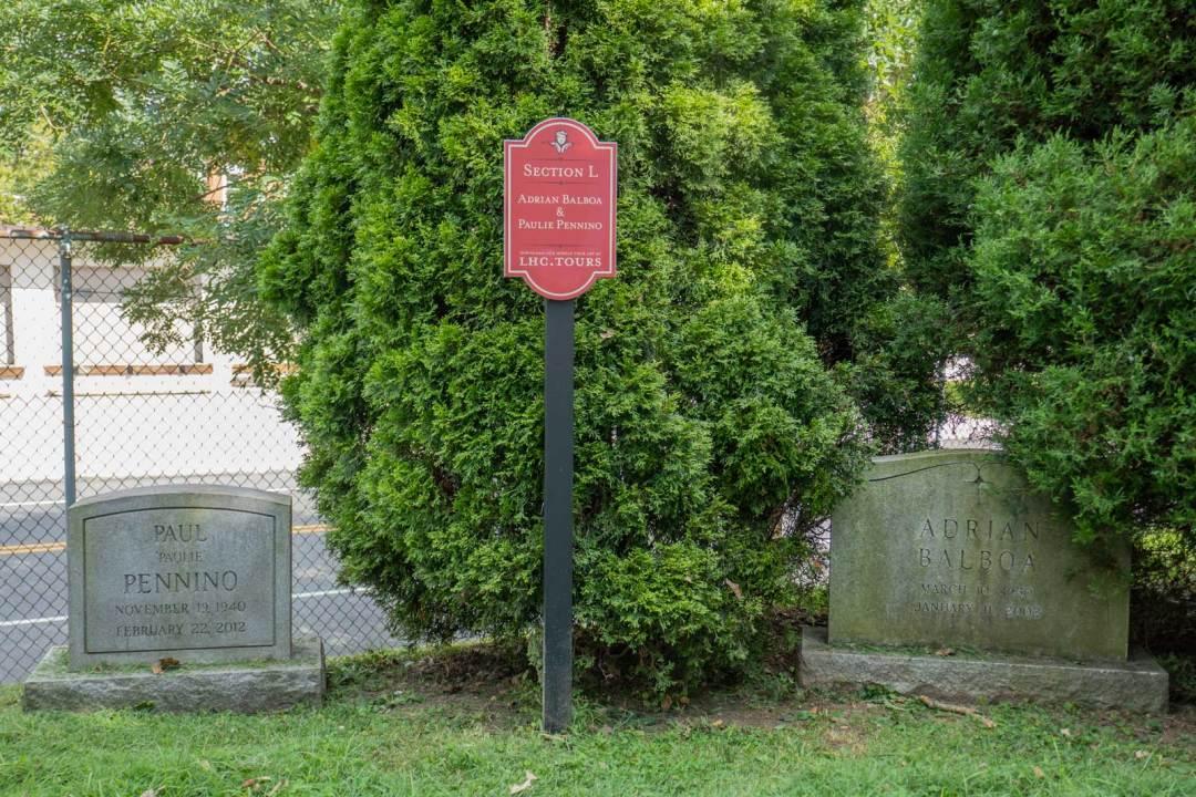 Laurel Hill Cemetery Adrian Balboa Paulie Pennino from Rocky