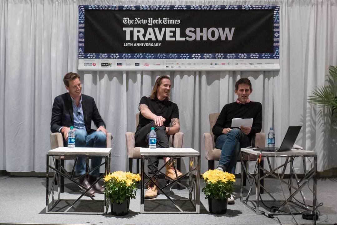 Nicholas Stone Eddy Buckingham Moderator Oliver Strand 2018 New York Times Travel Show