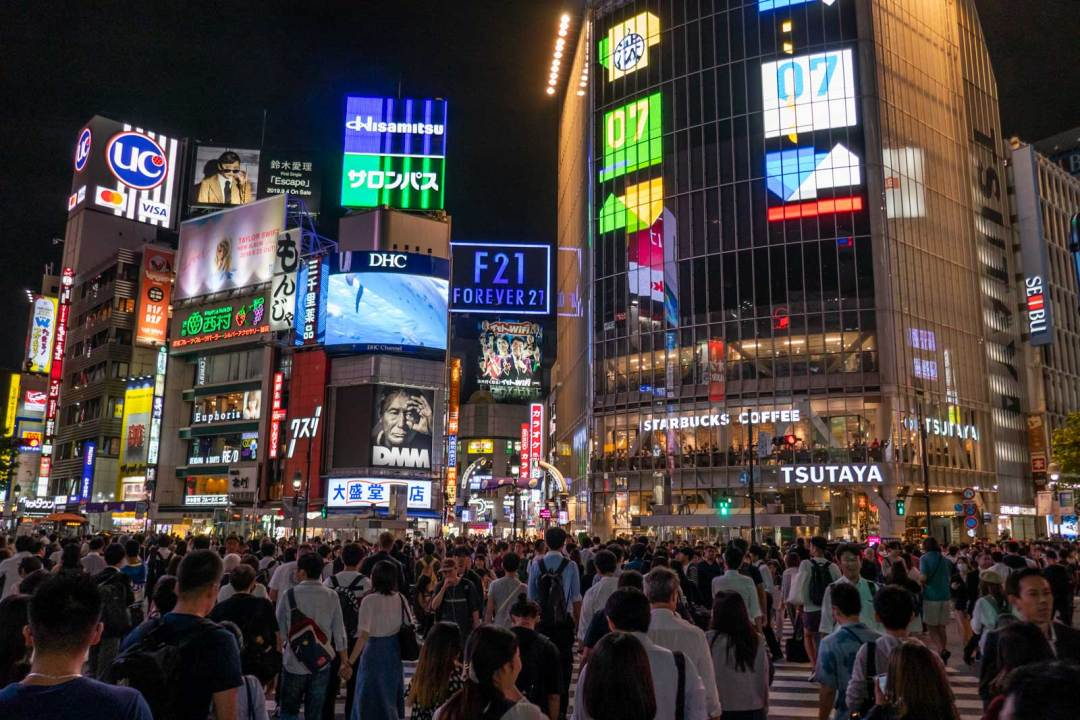 Shibuya Crossing with Arigato Japan Food Tours
