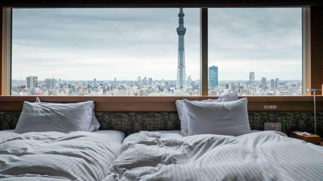 Skytree view room at Tobu Hotel Levant
