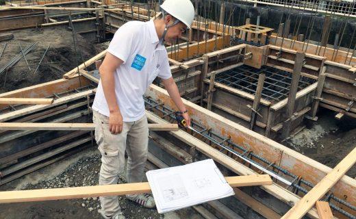 工場の移転新築、デザインの基礎配筋検査|愛知県江南市の市街化調整区域