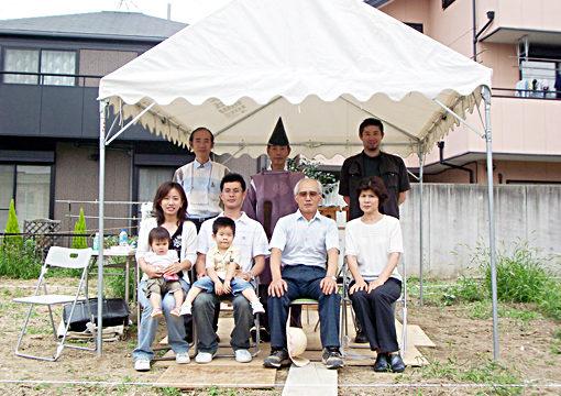 家族の気配を感じる家|新築注文住宅の設計・デザイン|I-邸の地鎮祭