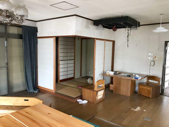 空き家を賃貸マンションへ改装リノベーション設計、デザインの既設1階LDK