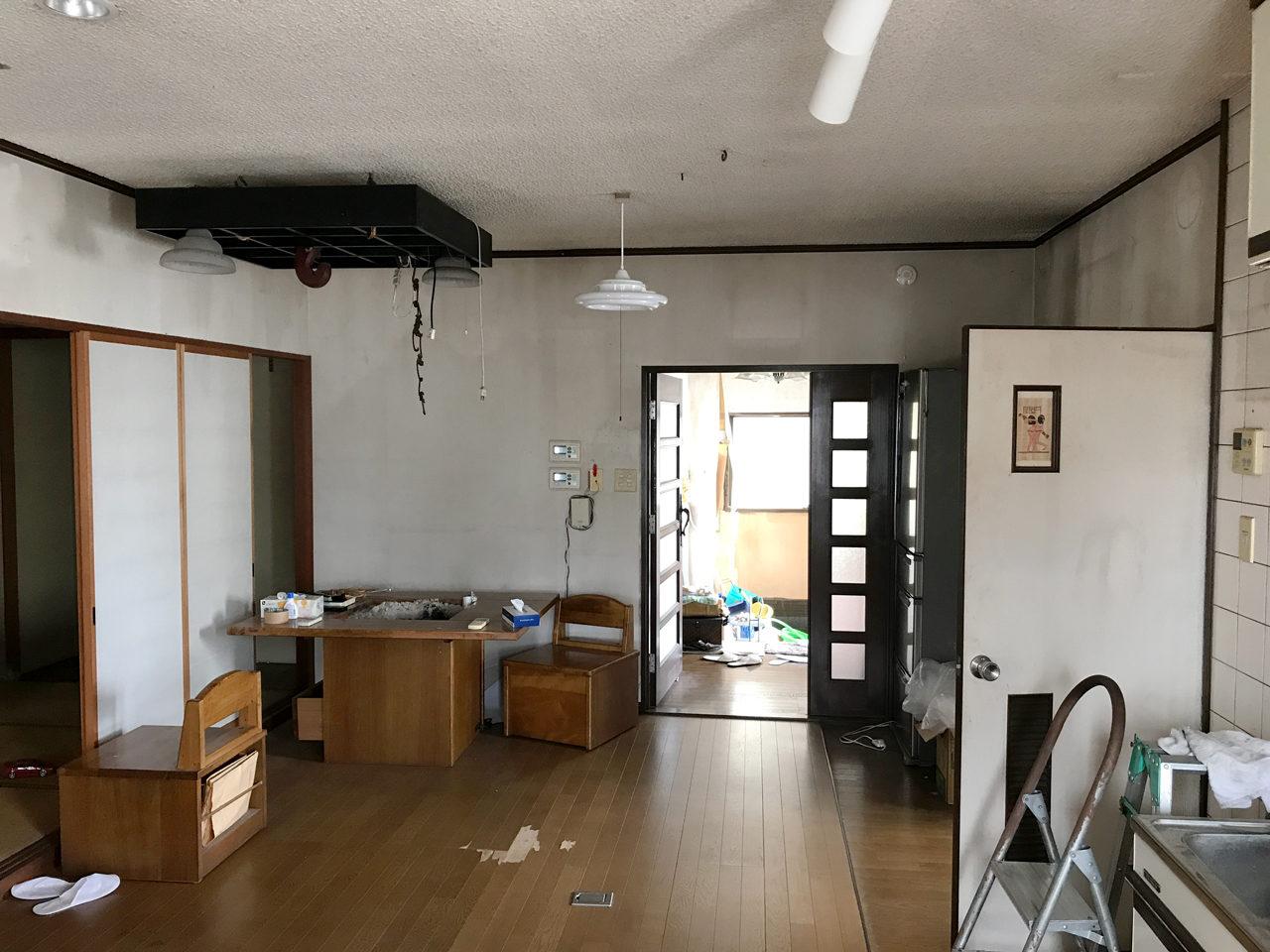 空き家を賃貸住宅へリノベーション設計、デザインに1階既設LDK