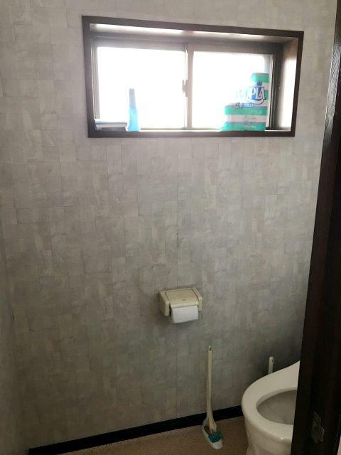 賃貸住宅リノベーション改装工事の設計、デザインの既設1階トイレ