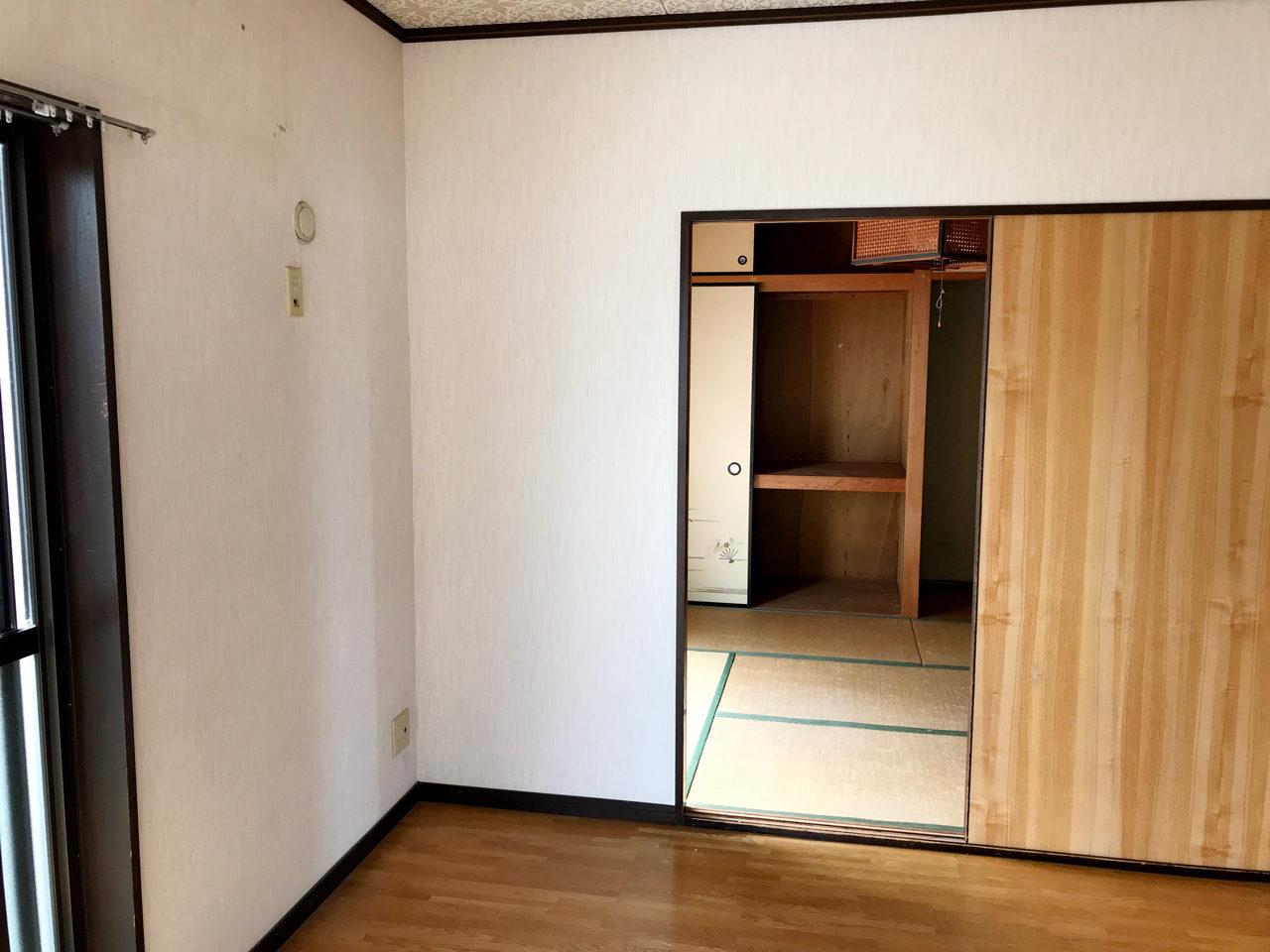空き家を賃貸住宅へリノベーション設計、デザインの既設2階個室02