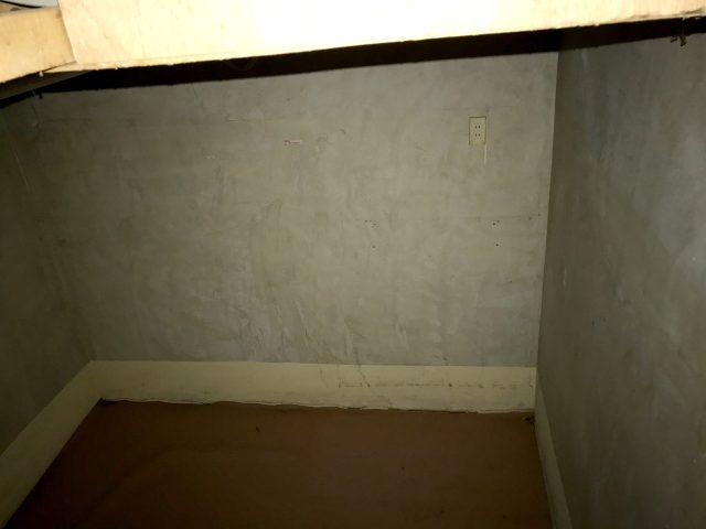 賃貸マンションのリノベーション改装設計、デザイン前の地下室