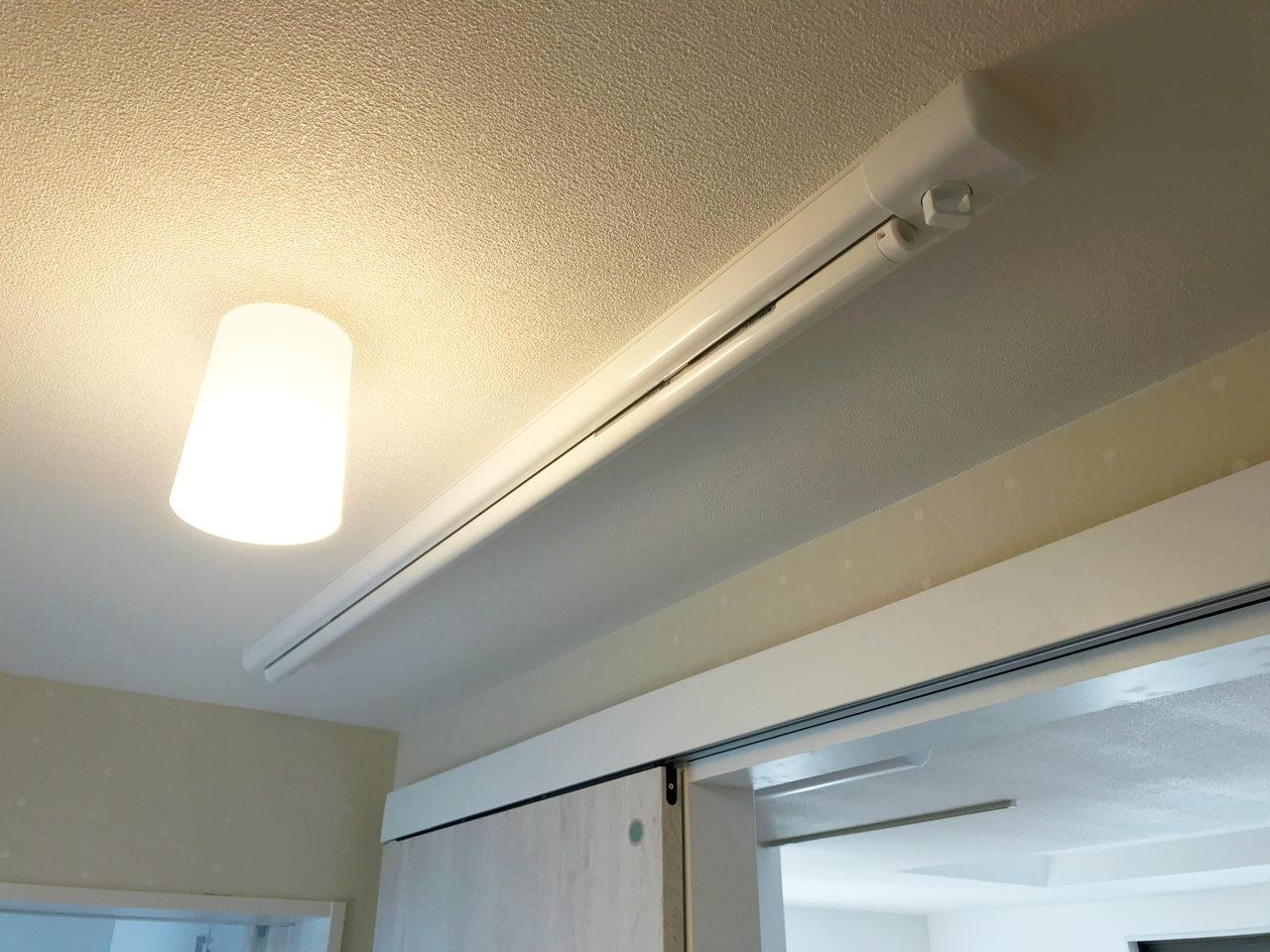 空き家をリノベーション改装工事後の室内物干し