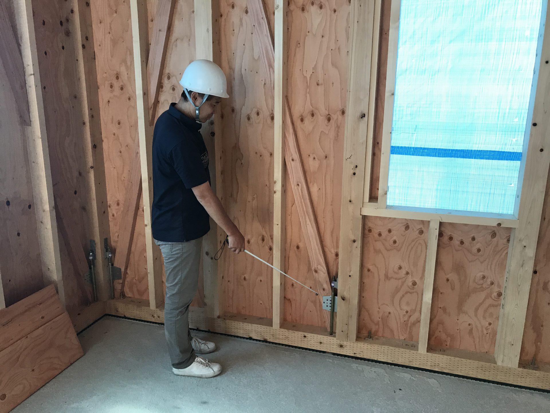 店舗付き住宅の中間検査、構造用金物検査