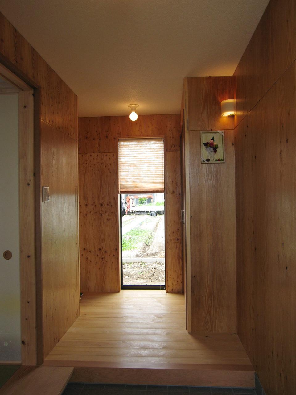 和風の玄関のある家の新築設計