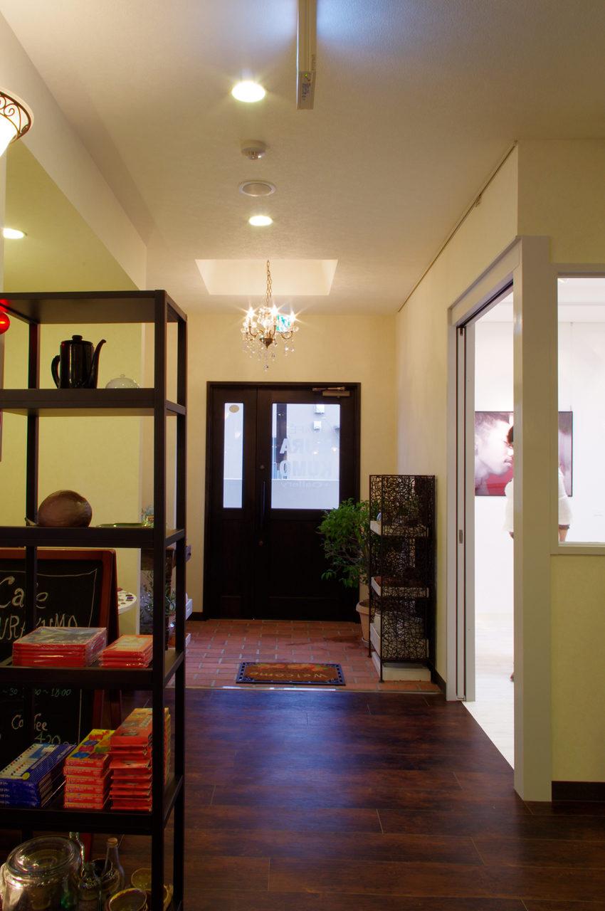 店舗デザイン、設計したギャラリーとカフェの入り口|名古屋市