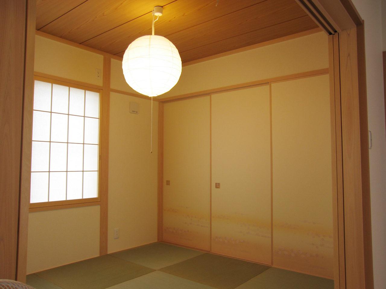 設計した治療院併用住宅の和室