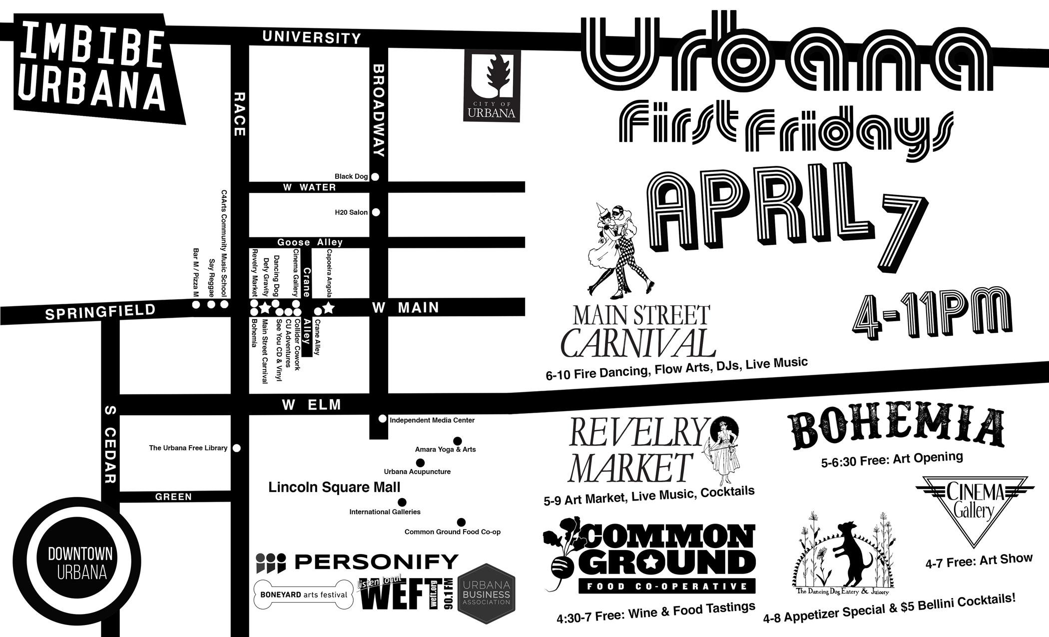 URBANA FIRST FRIDAYS April 7 4-11PM