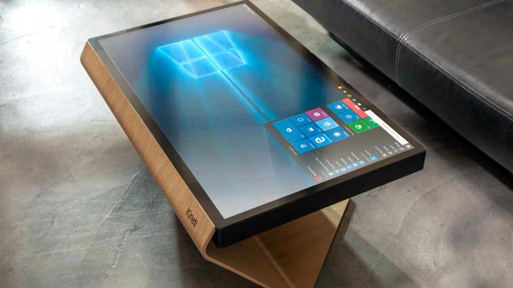 la table kineti touch screen coffee