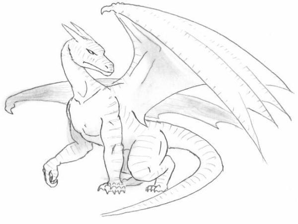 dragonpencildrawingbigskiejpg imbossthegreat