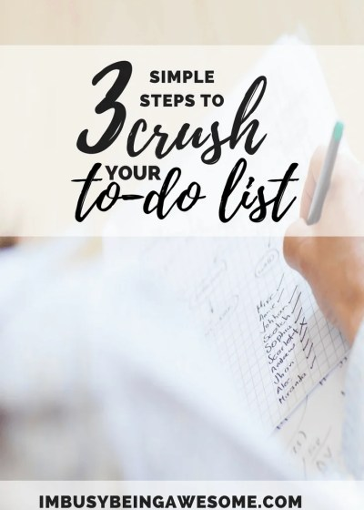 3 simple steps to crush your todo list. to-do list motivation productivity scheduling work-life balance health happiness goals achieve #todolist #motivation #productivity #scheduling #worklifebalance #health #happiness #goals #achieve