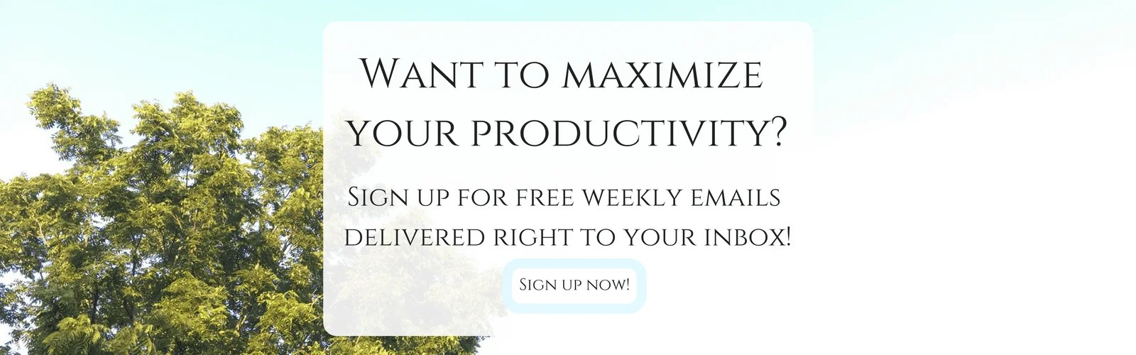 Sign up for a FREE weekly newsletter.