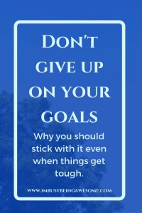 Don't Give Up On Your Goals: Motivation Monday