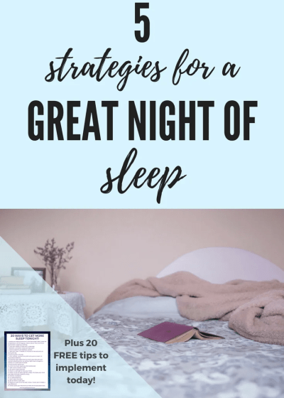 5 strategies for a great night of sleep. bedtime, routine, morning, sleep, how to get enough sleep, healthy, rest, relaxation, productivity, sleep environment, white noise, #sleep #bedtime #strategies #sleepstrategy #health #relaxation #beyou #getenoughsleep #8hours