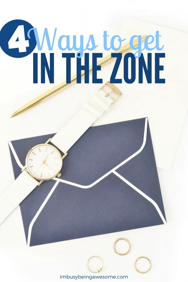 4 easy ways to get in the zone and boost your productivity today! Stay focused, complete your to-do lists, and reach your goals. #focus #productivity #entrepreneur #worklifebalance #timemanagement #personaldevelopment #personalgrowth