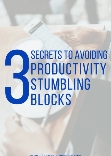 How to avoid productivity stumbling blocks, organization, time management, distractions, work at home, work, office, social media, facebook, twitter, instagram, #organization #timemanagement #distractions #workfromhome #work #office #socialmedia #facebook #twitter #instagram #homeoffice, #getitdone #avoiddistraction #tipsandtricks #strategies