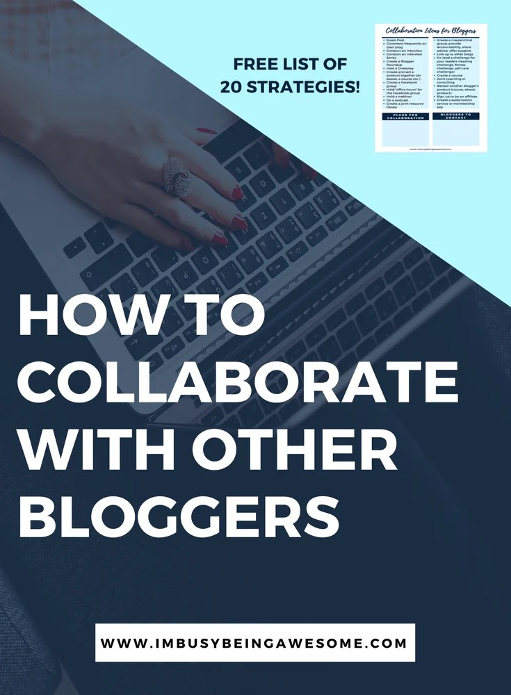 Collaboration Ideas For Bloggers. Blogging Strategies, Collaborate, Outreach, Tips and Tricks, Grow your following, Readership, How to collaborate #collaboration #collaborate #blogging #bloggingstrategies #tipsandtricks #success #entrepreneur #outreach #growyourfollowing