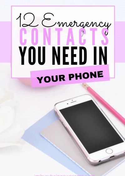 12 Emergency Contacts You Need In Your Phone Who is your in case of emergency? Is it clear who your emergency contact is? Do you have an ICE phone number programmed in your phone? Check out my list of 12 emergency contact numbers you need in your phone and get prepared today. #emergencycontact #organized #family #prepared #ICE #planning #organization #safety