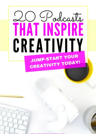 Top 20 podcasts that inspire creativity. Are you facing a creativity block? Are you feeling uninspired or stuck in a rut? Are you looking for tips and tricks to boost your creativity? Then check out these leading podcasts about creativity today! #podcast #entrepreneur #creatives #artist #creativity #inspire #motivation #personaldevelopment