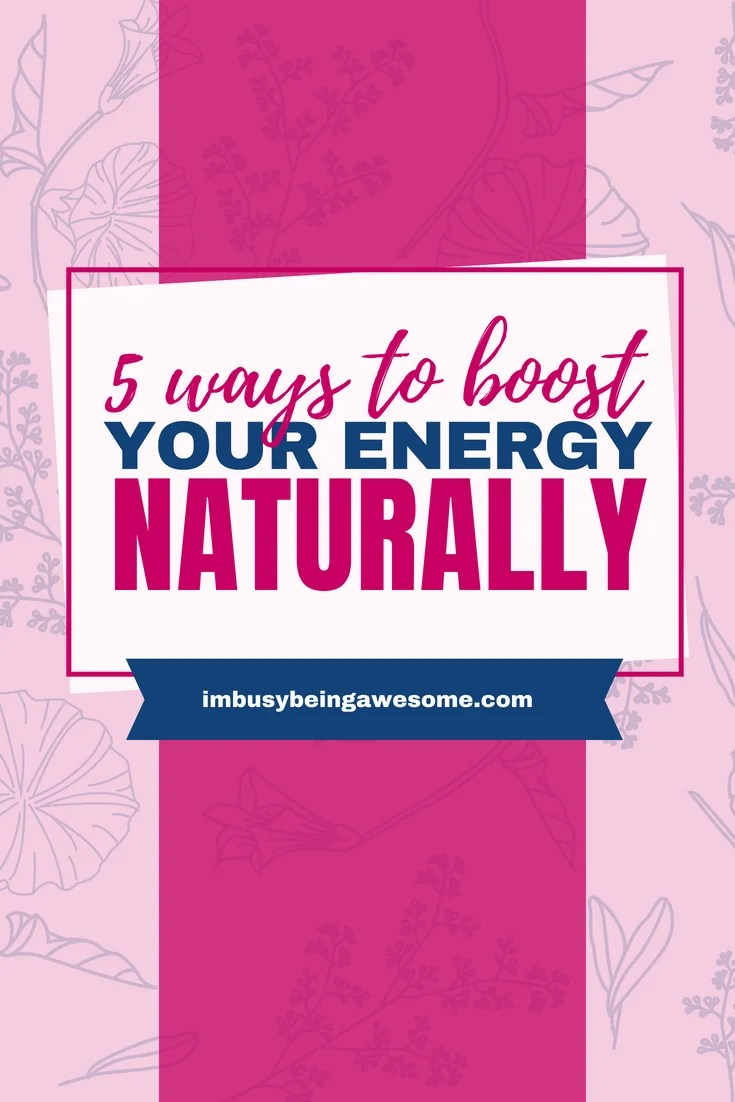 Boost Your Energy Naturally With These 5 Simple Strategies Are you in need of an energy boost? Are you looking for ways to increase your energy and feel less tired? Are you ready to increase your energy for good caffeine free? Then this post is for you #energy #fitness #healthyliving #natural