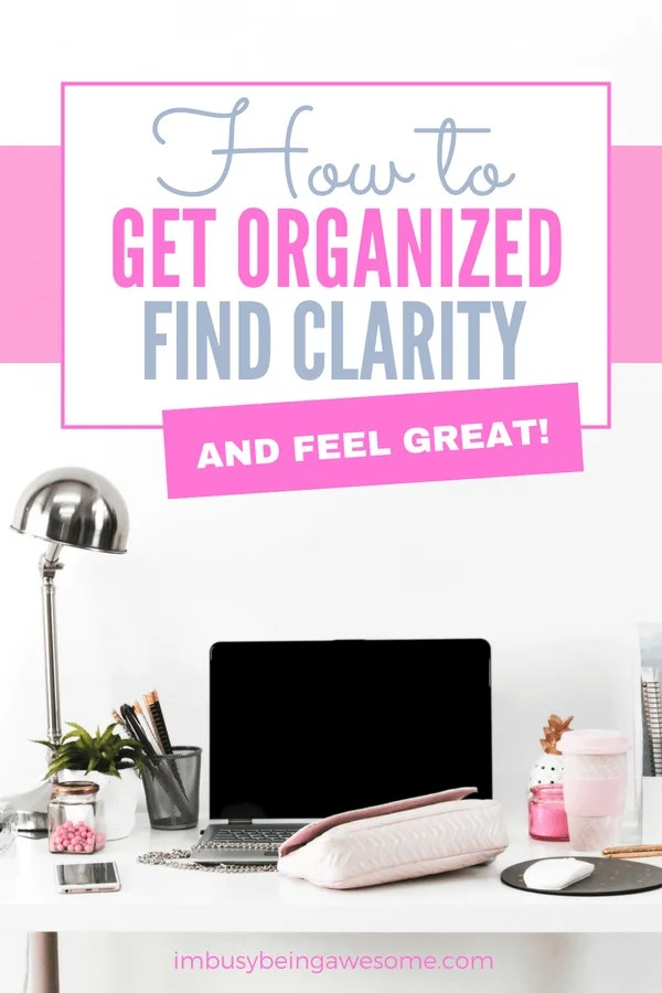 Are you ready to get organized at home, for school, or at work? Are you looking for ideas to use a planner for better time management? Are you ready for simple ideas for how to declutter your home, office, kitchen, or closet? Are you ready to finally get your schedule organized? Then this post is for you! #organized #planner #bulletjournal #bujo #entreprener #girlboss #timemanagement