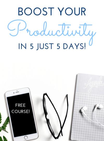 Free productivity ecourse