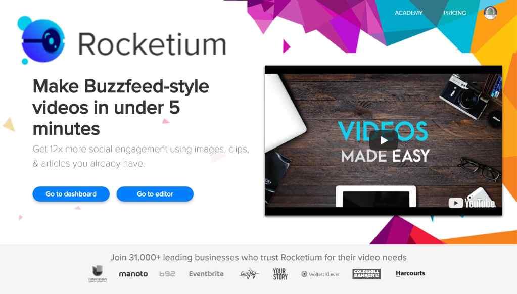 Rocketium - Cloud Video Maker