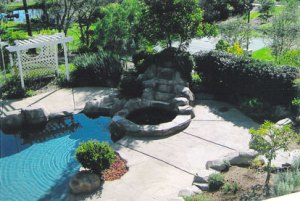 executive retreat rental waterfall hot tub