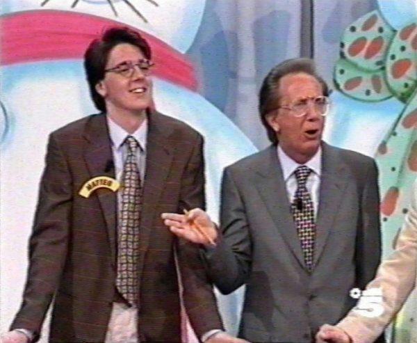 Matteo Renzi e Mike Bongiorno (Ruota della Fortuna 1994)