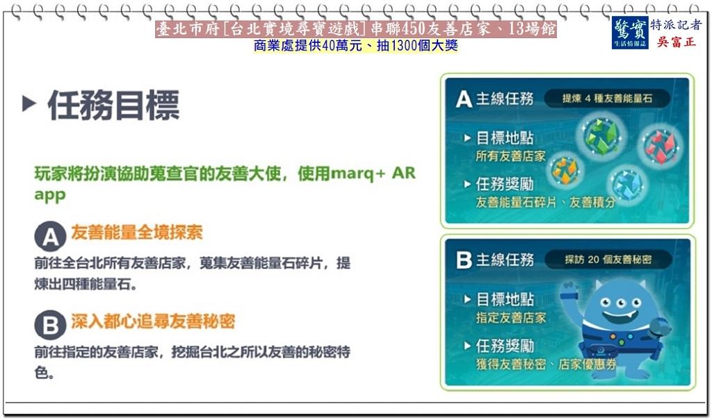 20181112a【驚實報】-臺北市府[台北實境尋寶遊戲]串聯450友善店家05