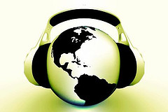 PodCast (Globe with Headset)