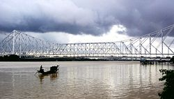 Indian Ocean Monsoon clouds over Howrah Bridge - Kolkata