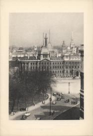 A view of IMechE's headquarters with the London skyline beyond. Designed by Basil Slade, the building has been the Institutions home since 1899. National events such as discussions for the D-Day landing preparations have taken place here.
