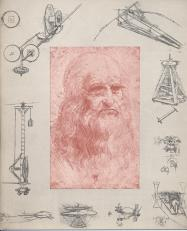 Leonardo da Vinci, self portrait and sketches. Christmas 1958.