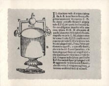 Taken from one of our earliest books, 1647, this diagram is a vessel for heating water. Christmas 1967.
