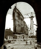 Under construction, bow